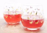 LLAMA TUMBLER METALLIC WINE GLASSES