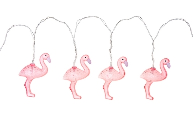 Think pink - flamingo lights